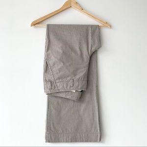 J.Crew City Fit Wide Leg Striped Cotton Pants